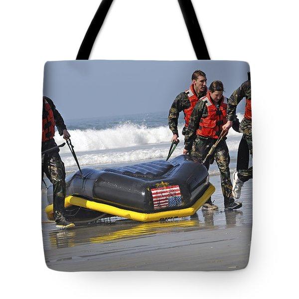Members Of The Us National Swim Team Tote Bag by Stocktrek Images