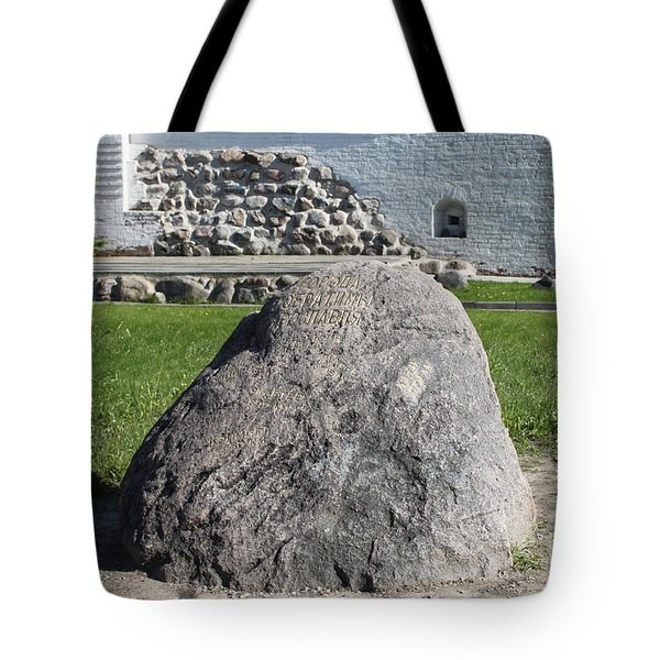 Memorial Stone Of Twin Cities Tote Bag by Evgeny Pisarev