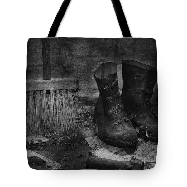Men At Work Tote Bag by Jerry Cordeiro