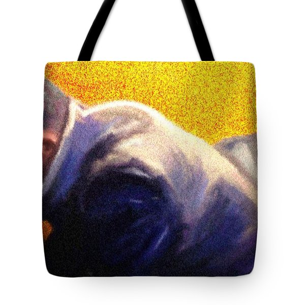 Tote Bag featuring the painting Men Do Pray by Vannetta Ferguson