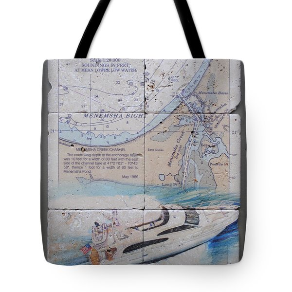 Menemsha Bight 6 Tile Set Tote Bag