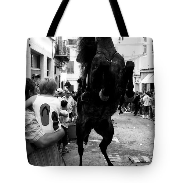 Tote Bag featuring the photograph Menorca Horse 3 by Pedro Cardona