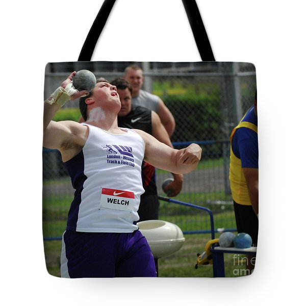Mens Shotput Tote Bag by Bob Christopher