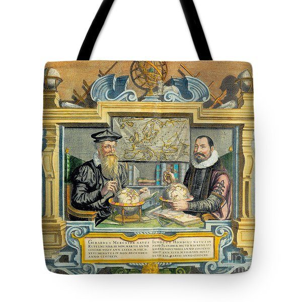 Mercator And Hondius Tote Bag by Science Source