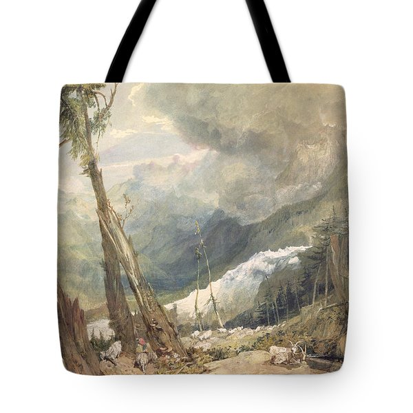 Mere De Glace - In The Valley Of Chamouni Tote Bag by Joseph Mallord William Turner