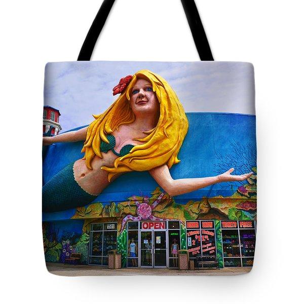 Mermaid Building Tote Bag by Garry Gay
