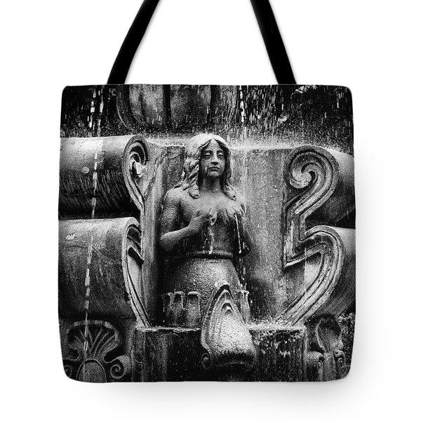 Mermaid Fountain Tote Bag by Tom Bell