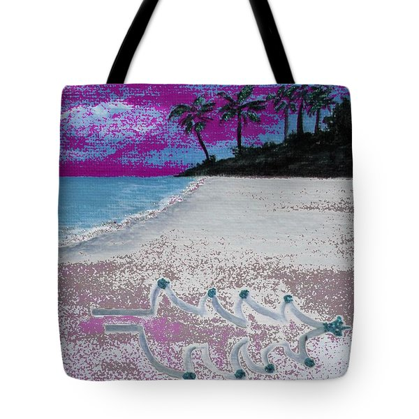 Merry Beachy Christmas Tote Bag