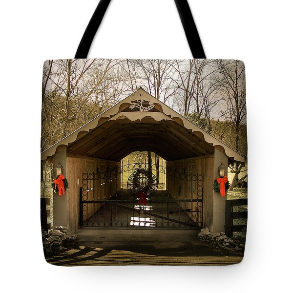 Merry Christmas From Tennessee Tote Bag by Trish Tritz