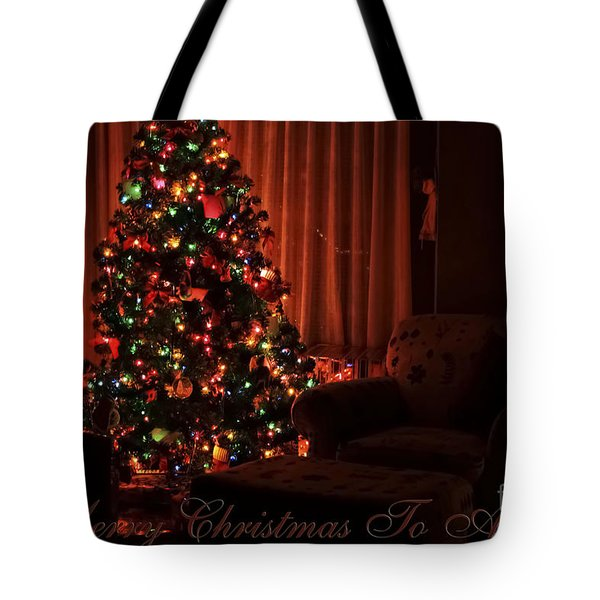 Merry Christmas To All Christmas Card Tote Bag