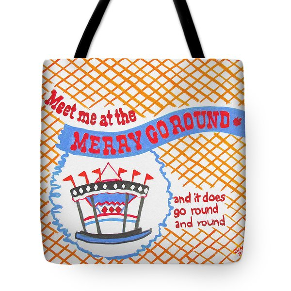 Merry Go Round Tote Bag by Beth Saffer