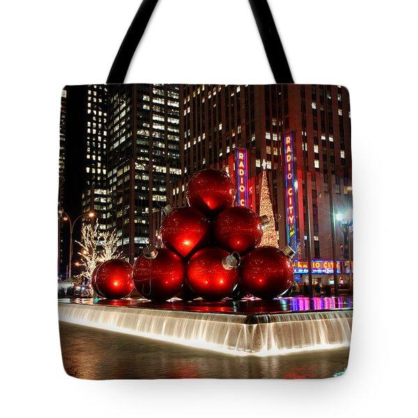 Merry New York City Christmas Tote Bag