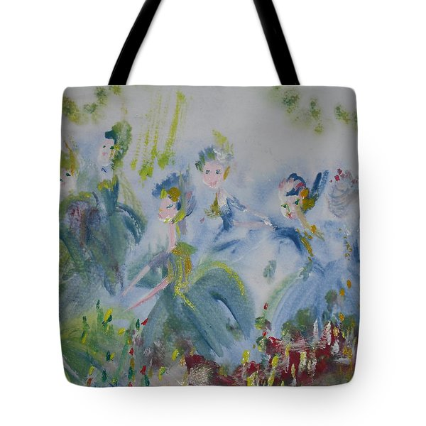 Merry Waltz Tote Bag by Judith Desrosiers