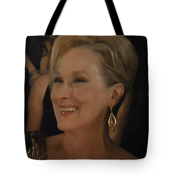 Tote Bag featuring the photograph Meryl Streep Portrait  by Colette V Hera  Guggenheim