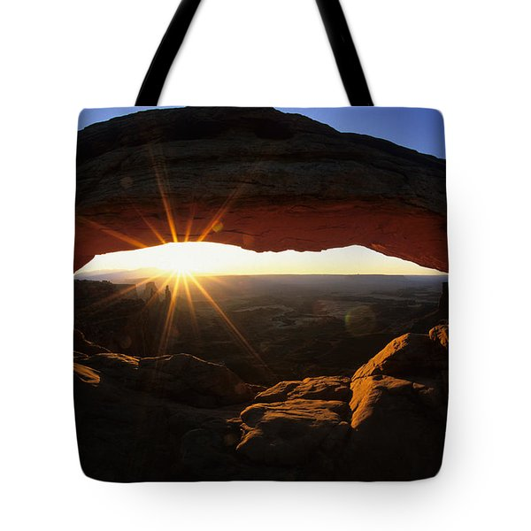 Mesa Arch Sunrise Tote Bag by Bob Christopher