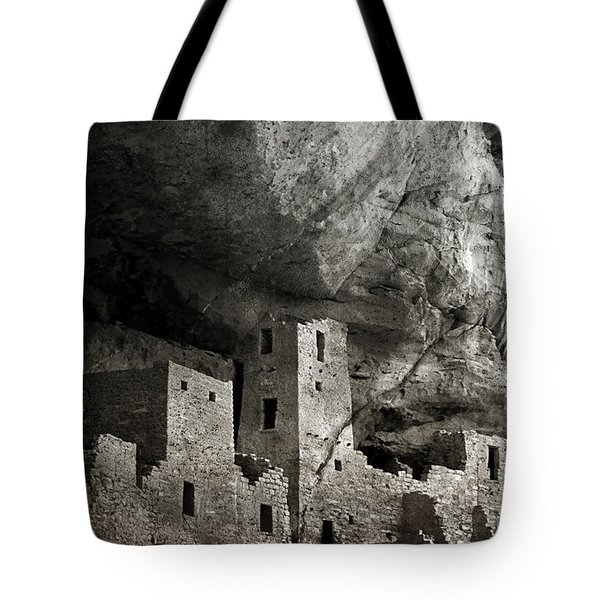 Mesa Verde - Monochrome Tote Bag by Ellen Heaverlo