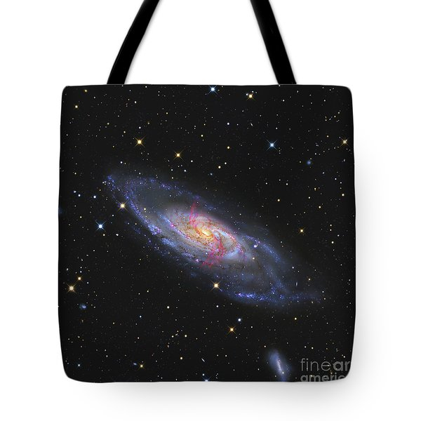 Messier 106, A Spiral Galaxy With An Tote Bag by R Jay GaBany