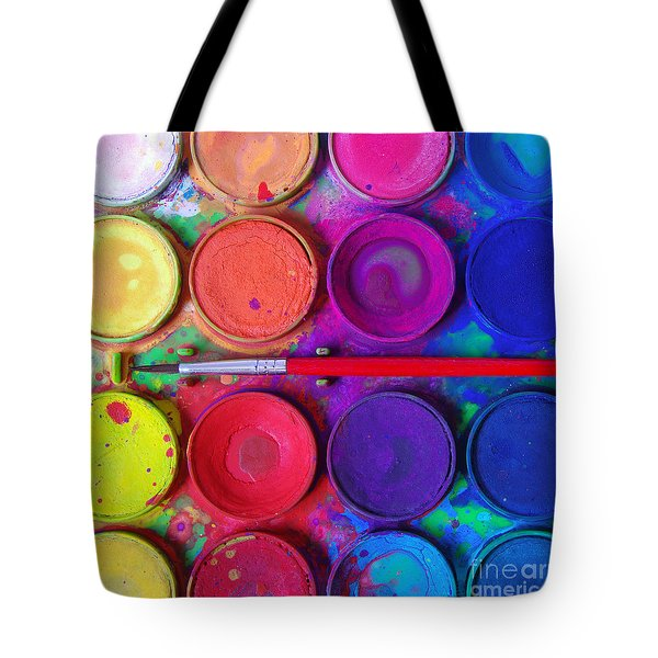 Messy Paints Tote Bag by Carlos Caetano