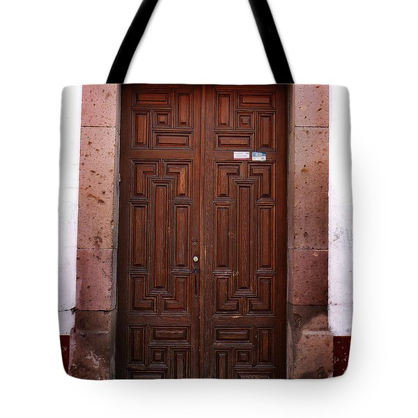 Mexican Door 45 Tote Bag by Xueling Zou