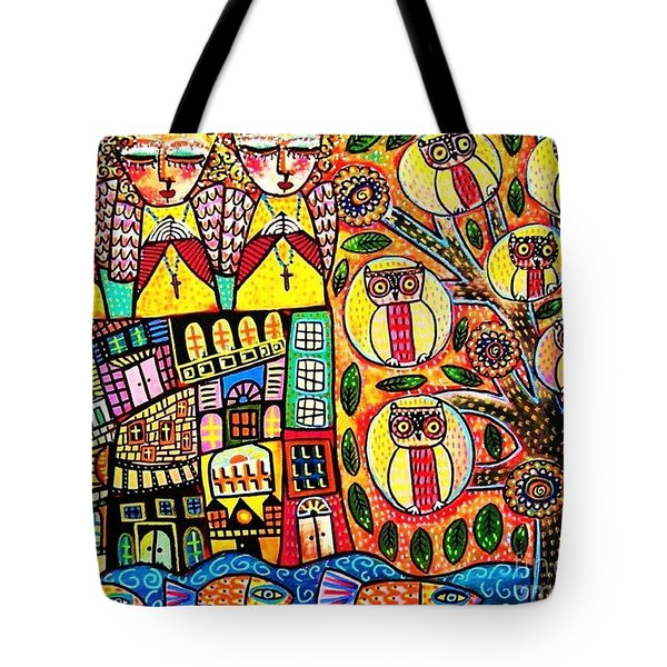Mexican Seaside Village Tote Bag