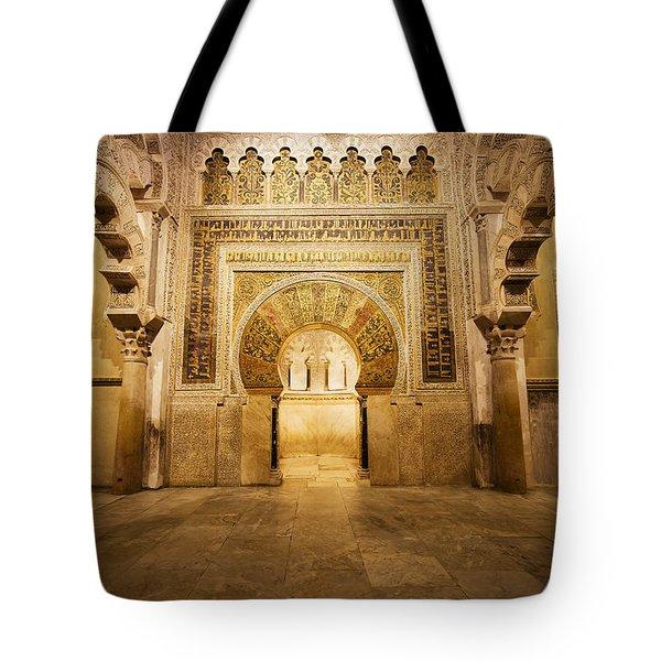 Mezquita Mihrab In Cordoba Tote Bag