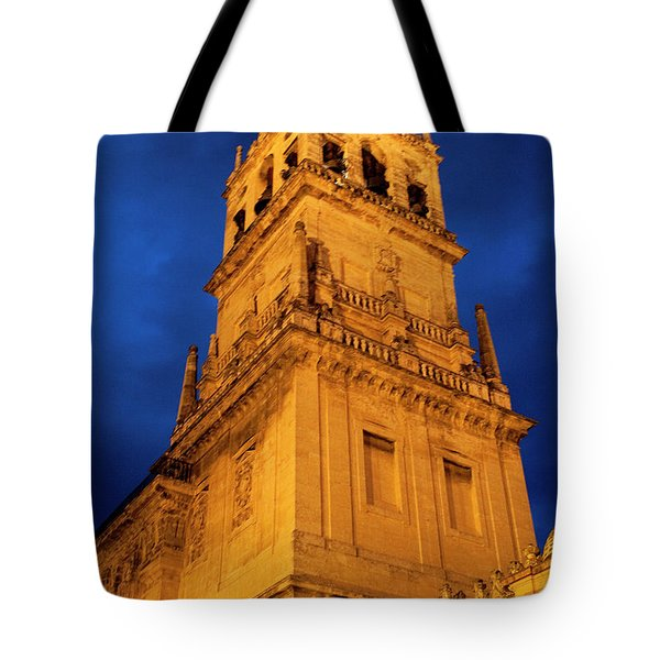 Tote Bag featuring the photograph Mezquita Tower by Lorraine Devon Wilke