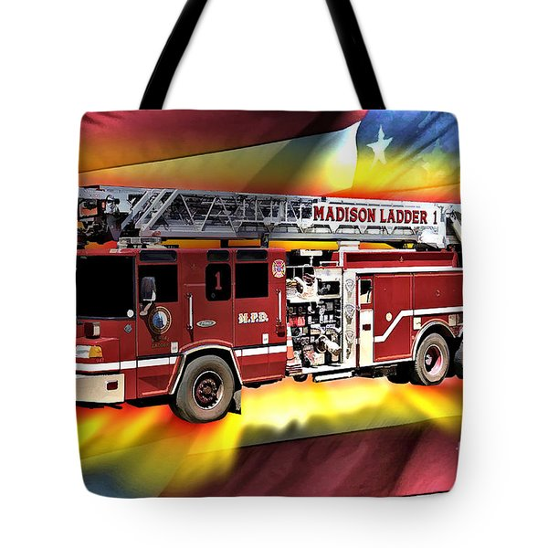 Mfd Ladder Co 1 Tote Bag by Tommy Anderson