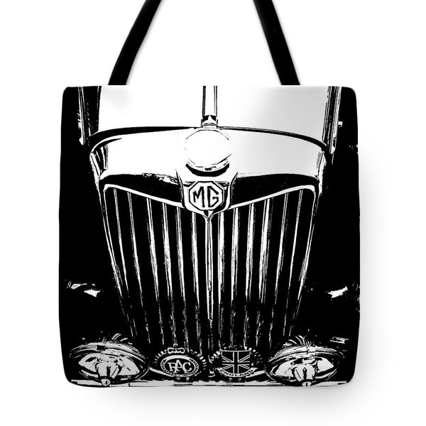 Mg Grill Black And White Tote Bag