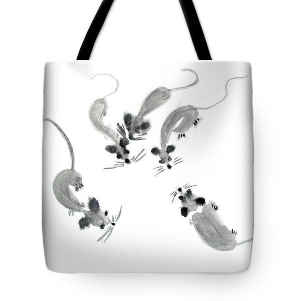 Mice - Sumie Style Tote Bag by Yoshiko Mishina