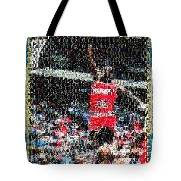 Michael Jordan Rookie Mosaic Tote Bag by Paul Van Scott