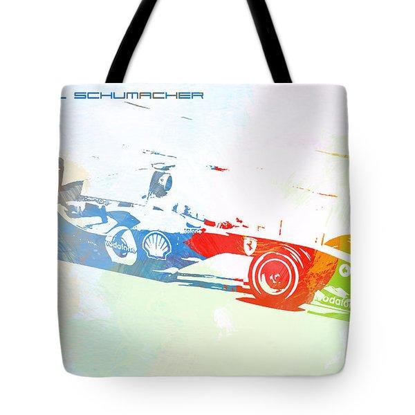 Michael Schumacher Tote Bag by Naxart Studio