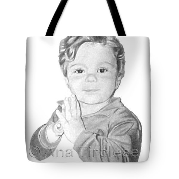 Tote Bag featuring the drawing Michael Smyth by Ana Tirolese