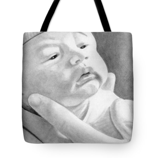 Tote Bag featuring the drawing Michael Wayner Bettencourt by Ana Tirolese