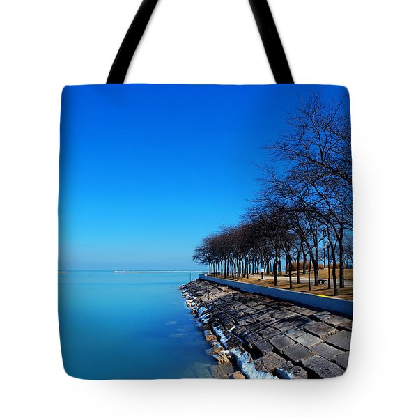 Michigan Lakeshore In Chicago Tote Bag by Paul Ge