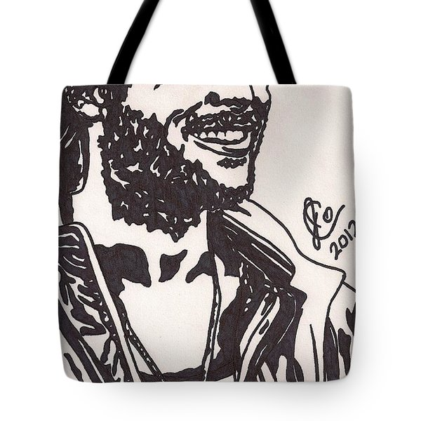 Tote Bag featuring the drawing Mickey by Jeremiah Colley
