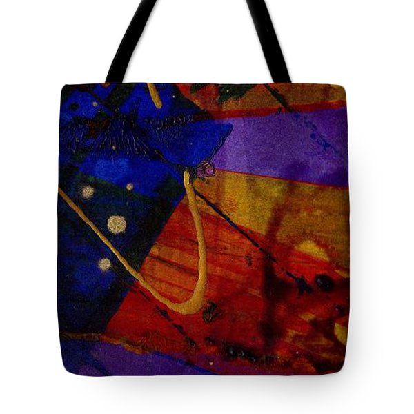 Mickey's Triptych - Cosmos IIi Tote Bag by Angela L Walker