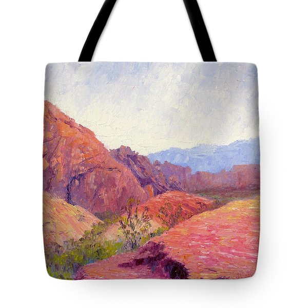 Mid Day Valley Of Fire Tote Bag by Terry  Chacon