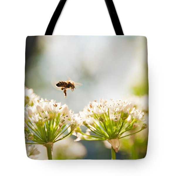 Tote Bag featuring the photograph Mid-pollenation by Cheryl Baxter