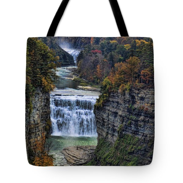 Tote Bag featuring the photograph Middle Land by Tammy Espino