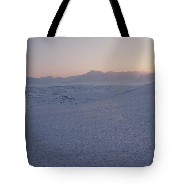 Midnight Sun Hovers Above Polar Tote Bag by Gordon Wiltsie