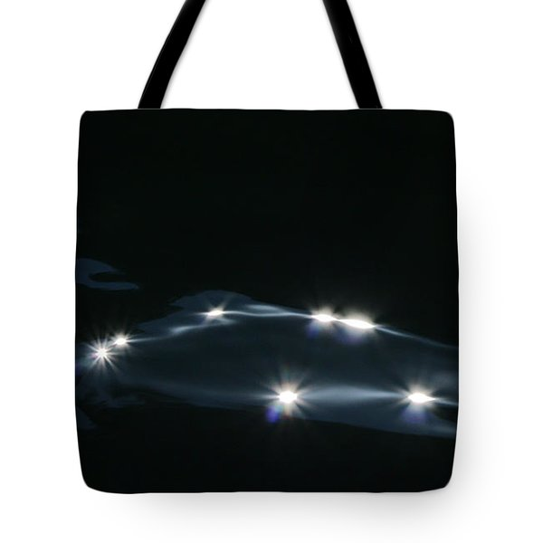 Tote Bag featuring the photograph Midnight Wave by Cathie Douglas