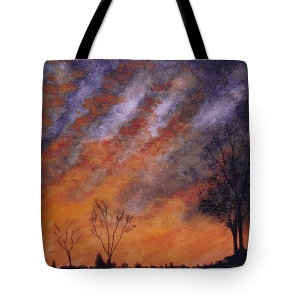 Tote Bag featuring the painting Midwest Sunset by Stacy C Bottoms