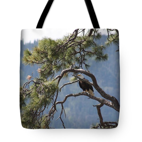 Tote Bag featuring the photograph Mighty Eagle by Cathie Douglas