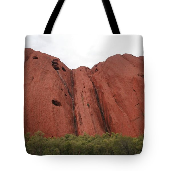 Tote Bag featuring the photograph Mighty Uluru by Laurel Talabere