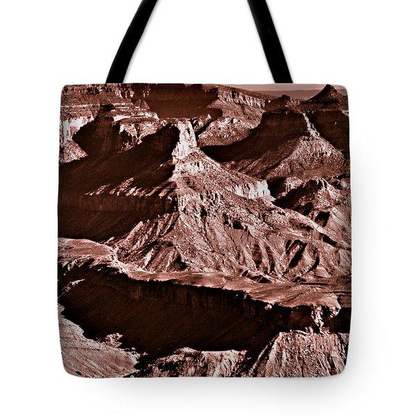 Milk Chocolate Mountains Tote Bag by Bob and Nadine Johnston