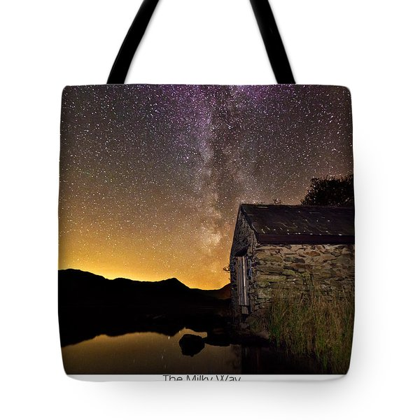 Tote Bag featuring the photograph Milky Way Above The Old Boathouse by Beverly Cash