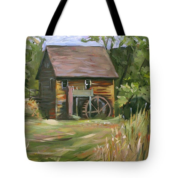 Mill In The Meadow Tote Bag by Nancy Griswold