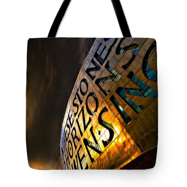 Tote Bag featuring the photograph Millennium Drama by Meirion Matthias