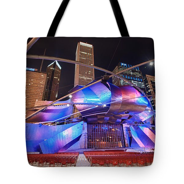 Tote Bag featuring the photograph Millennium Park by Sebastian Musial