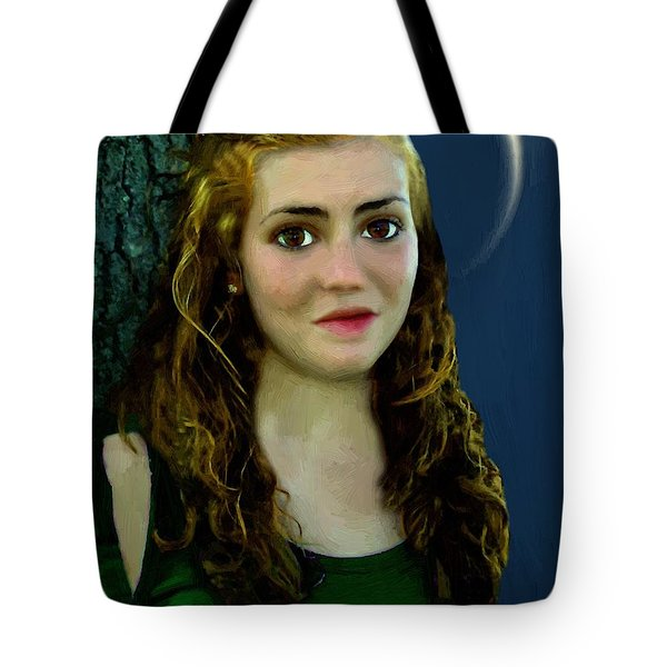 Mina By Moonlight Tote Bag by RC DeWinter